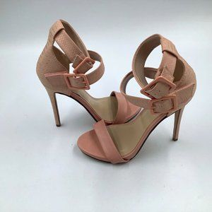 Women's D High Heels Stiletto Ankle Straps 7.5 H
